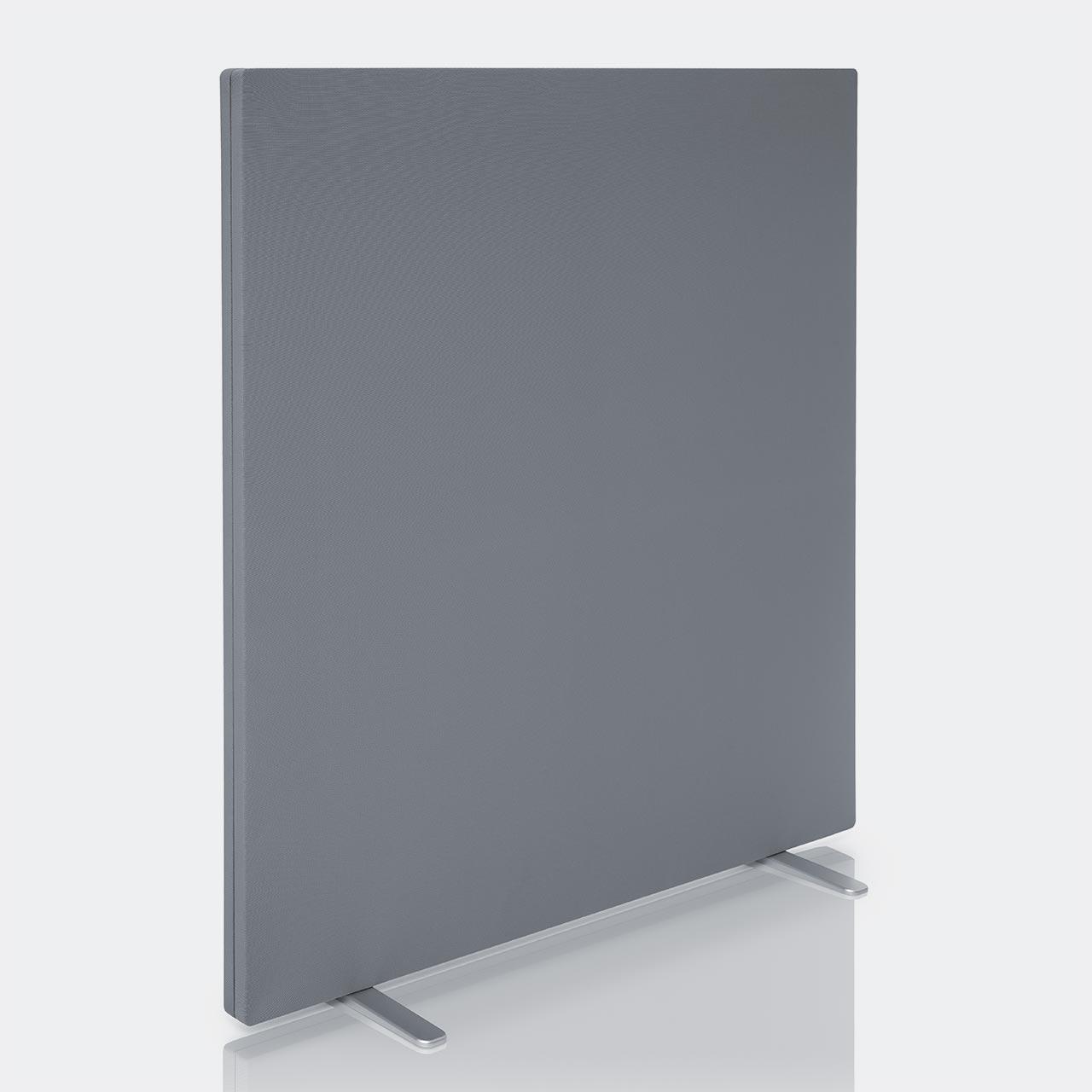 mobil freistehend stellwand sichtschutz raumteiler schallabsorber rechteckig grau akustikflaeche. Black Bedroom Furniture Sets. Home Design Ideas